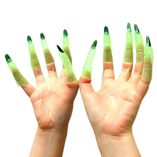 Bornbayb 1 Paar Hexe Nägel für Halloween Kostüm Party Prop Bekleidung Zubehör (Hexe Paar Kostüme)