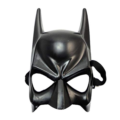 QWEASZER Halloween Cosplay Party Kinder Batman Maske League of Legends Maske Cartoon Anime Adult Movie Thema Requisiten Prom Maske,Black-OneSize