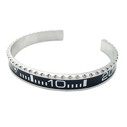Armband im Lünetten-Stil SUB schwarz von OFFICIAL GENEVA