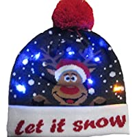 Bloomma LED Light-up Knight Ugly Sweater Holiday Christmas Christmas Beanie, Best Gift Festival, Holiday, Celebración, Fiestas, Bar, Christmas