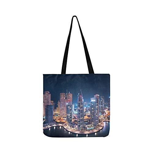 Die Super Rich Country Dubai Canvas Tote Handtasche Schultertasche Crossbody Taschen Geldbörsen für Männer und Frauen Einkaufstasche