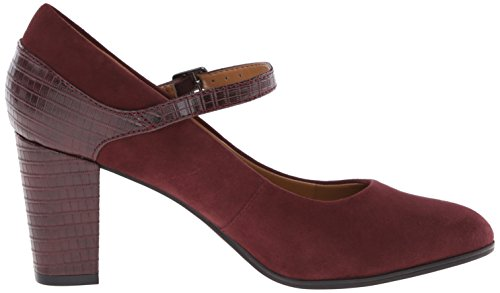 Pompa Clarks Bavette Cathy Dress Burgundy Suede/Crocodile