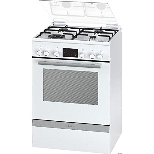 Bosch Serie 4 HGD74W322F Cuisinière Cuisinière à gaz A Blanc four et cuisinière - fours et cuisinières (Cuisinière, Blanc, Rotatif, toucher, Devant, 1,2 m, Électronique)