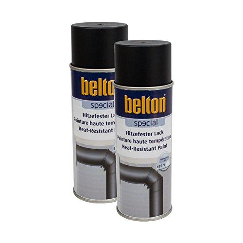 Preisvergleich Produktbild 2x KWASNY 323 301 BELTON SPECIAL Hitzefester Lack schwarz 400ml