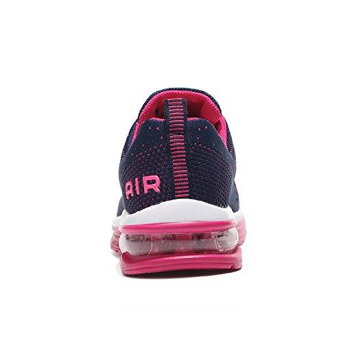 Unisex Herren Damen Sneakers Bequeme Laufschuhe Schnürer air Profilsohle Sportschuhe Turnschuhe Rosa