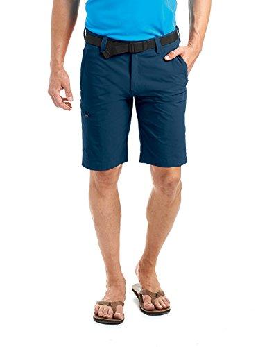 MAIER SPORTS Herren Bermuda, Outdoorhose/ Funktionshose/ Shorts inkl. Gürtel, bi-elastisch, schnelltrocknend und wasserabweisend, Blau (aviator/368), Gr. 50