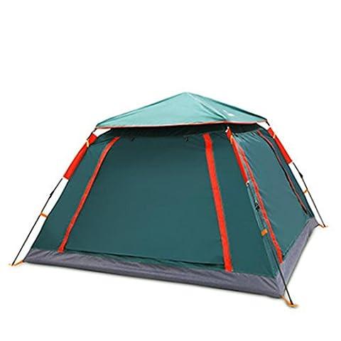 XG 3-4 personnes caravanes de plage de camping en fibre de verre automatique à une couche