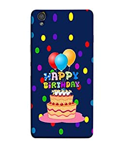 PrintVisa Designer Back Case Cover for OnePlus X :: One Plus X (Cute Greeting Card Happy Frame Gift Colors Illustration)