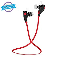 Bluetooth 4.1 Wireless Stereo In-Ear Headphones ,Hands-Free Calling For All Android & Iphone Smartphones(Black/Red)