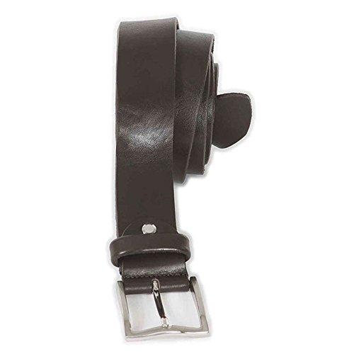 Cintura taglie forti uomo Maxfort CUOIO 4cm extra lunga - Nero, 190 CM