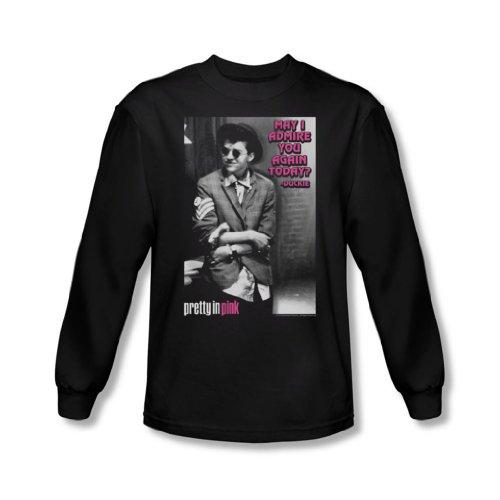 Pretty In Pink - Herren Bewundern Langarm-Shirt In Schwarz Black