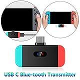 Volwco Adapter Bluetooth für Nintendo Switch, Bluetooth Audio Transmitter mit USB Typ C Anschluss, unterstützt In-Game Voice Chat, aptX Low Latency für Nintendo Switch, Wireless Gaming Kopfhörer & PC