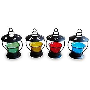 Pindia Decorative T-Lite Candle Holder Set (Set of 4)