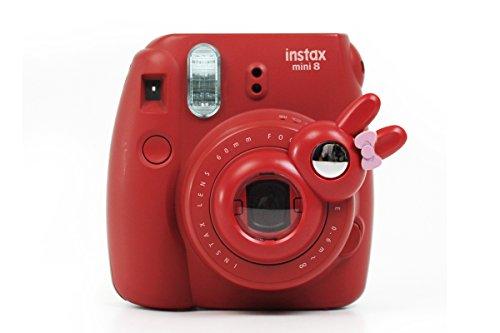 TaiYaun Mini Selfie Objektiv für Fujifilm Instax Mini 8/8+/ Fujifilm Instax Mini 9 / Fujifilm Instax Mini 7s (Rot,Mini8/ Mini 7SKaninchen)