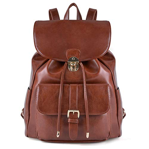 Zaino Donna, COOFIT Borsa Zainetto Universita Elegante Backpack Ragazze (Marrone)