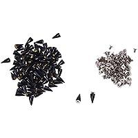 TOOGOO(R) 100 x 14 mm Remaches de los pernos de tornillo de estilo gotico, Negro