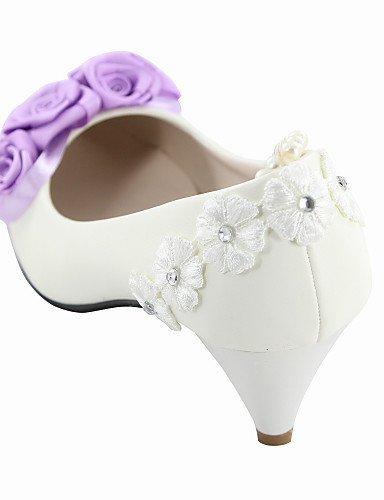 ShangYi Damen - Hochzeitsschuhe - Absätze - High Heels - Hochzeit - Weiß White