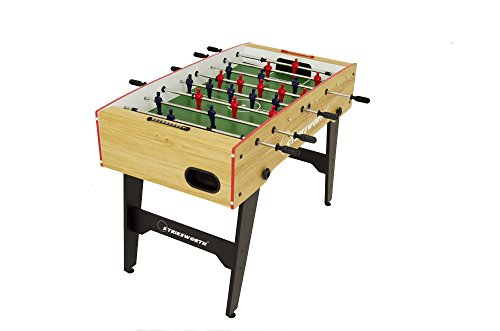 Free Kick Folding Football Table (Wood/Red)
