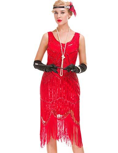 Vestido Vintage Mujer años 20 - Vestido Flecos Great