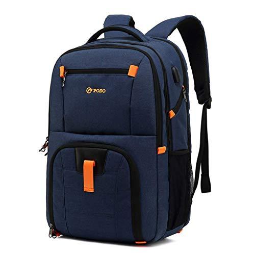 BAIJJ Rucksack Single Computer Tasche für Herren Umhängetasche für USB Laptop blau blau