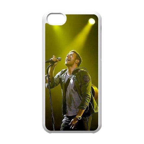 Coldplay coque iPhone 5C Housse Blanc téléphone portable couverture de cas coque EBDXJKNBO17238