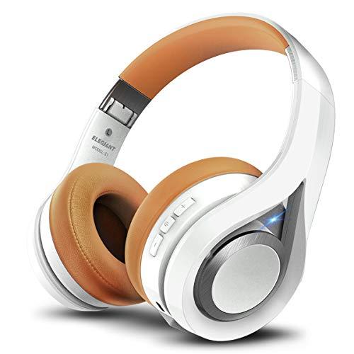 ELEGIANT Bluetooth Kopfhörer, Bluetooth 4.1 Wireless Stereo Headset drahtlose Kopfhörer Ohrhörer On Ear Kopfhörer + Mic/Freisprechfunktion + 3,5mm Audio AUX für Smartphone Samsung iPhone Huawei thumbnail