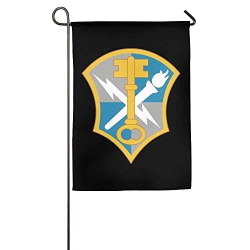 beautiful& US Army Intelligence Security Command Insignia Garden Flag Indoor & Outdoor Decorative Flags for Parade Sports Game Family Party Wall Banner 12.5x18 inches Insignia 32