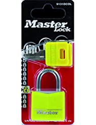 Master Lock 9131EURDCOL 1 Cadenas alu massif 30 mm (modèle aléatoire parmi les 4 couleurs de l'image)