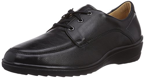 Ganter Sensitive Helga Wide H Ladies Derby Stringate Nero (nero 0100)