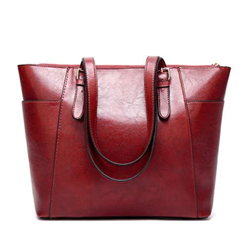 dcd0eceeb3 2019 sac à bandoulière sac à bandoulière rétro en cuir à l'huile (Wine