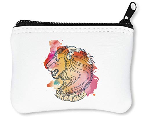 Lion Reißverschluss-Geldbörse Brieftasche Geldbörse ()