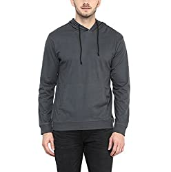 American Crew Mens Full Sleeves Dark Grey Hoodie - L (AC1209-L)
