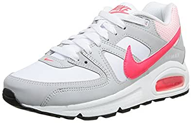Nike Air Max Command, Chaussures de running mixte adulte, Argent (Hite/Hyper Punch-Lght A), 36