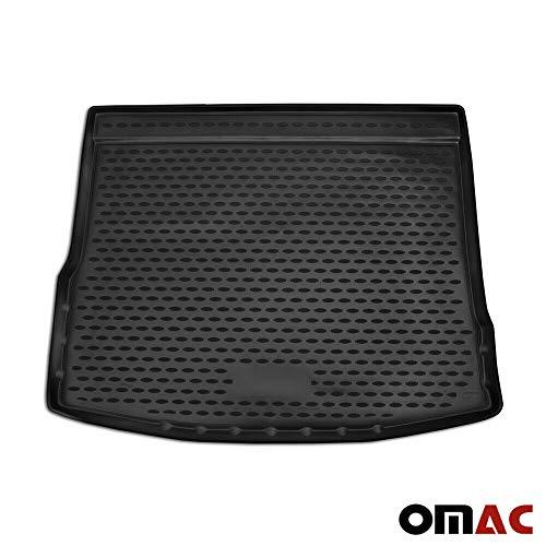 OMAC GmbH Kofferraumwanne Antirutschmatte Gummi Allwetter schwarz fahrzeugspezifisch für Tiguan ab 2017