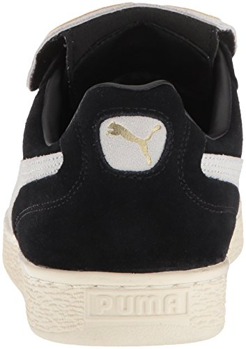 PUMA Men s King Suede Legends Sneaker  Black White Whisper White  7 5 M US