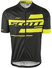Scott RC Team 10bicicleta camiseta corta negro/amarillo 2017, XXL