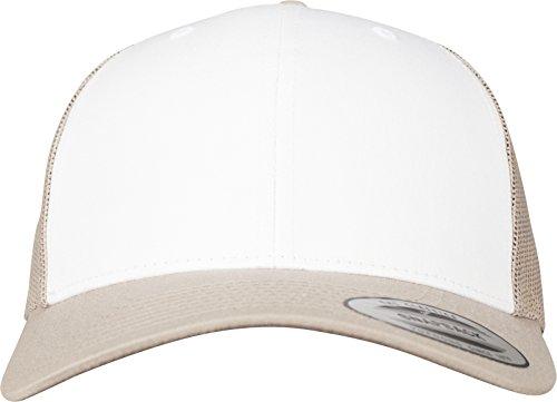 Flexfit Retro Trucker Colored Front Kappe, Khaki/White, One Size