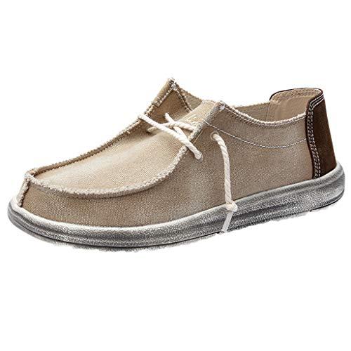 ➤Refill➤Boot- & Segelschuhe für Herren,Suede Bootsschuhe Herren Sneaker Atmungsaktiv Lässige Schnürschuhe Herren Espadrilles Slipper Vintage Schuhe