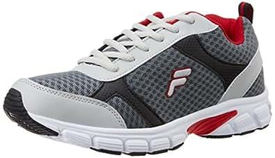 Fila Men's Fabiano Grey and Red Running Shoes - 11 UK/India (45 EU)