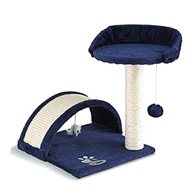 Fineway. Cat Canopy Kitten Tree Activity Centre Scratch Scratching Post Climbing Toy Bed- Easy To Assemble