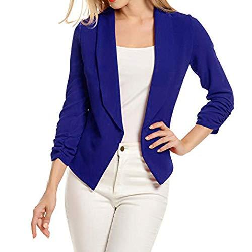 b3ae58768b33c2 Zolimx Donne Abito Formale Abbigliamento Donna 3/4 Manica Giacca Open  Fronte Cardigan Corto Tuta