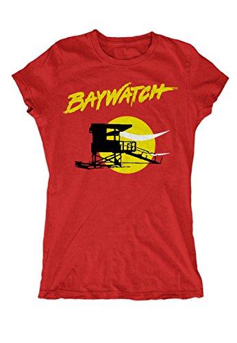 Artshirt-Factory Baywatch Logo Girlie (L, Rot) -