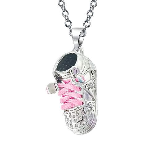 Sneaker Baby Schuh Charme Gravierbaren Anhänger Geschenk Für Neue Mutter Damen Rosa Schnürsenkel 925 Sterling Silber (Baby-schuh-charme)