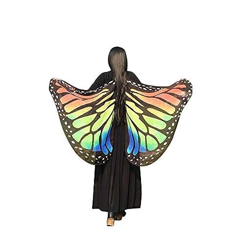 Echarpes Covermason Tissu doux papillon ailes châle fée Mesdames nymphe Pixie accessoire de Costume