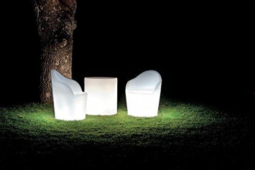 Modum Hochwertige LED beleuchtetes Lounge-Set Tahiti in Italienischem Design/Gartenlounge/Gartenparadies/Gartenhocker
