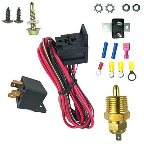 BeIilan 175-185 Grad Farenheight Motorkühlung Lüfter Thermostat Temp Schalter Sensor 4pins Relay Kit -