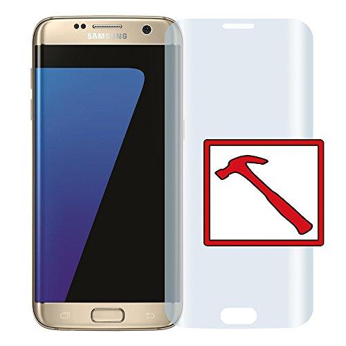 """Slabo PREMIUM Panzerglasfolie Samsung Galaxy S7 Edge FULL COVER Echtglas Displayschutzfolie Schutzfolie Folie """"Tempered Glass"""" KLAR - 9H Hartglas - Rahmen Transparent Clear"""