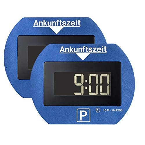 2x Park Lite elektronische Parkscheibe digitale Parkuhr blau mit offizieller Zulassung