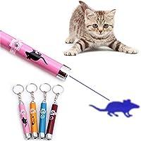 Lottoy LED Pointer für Katzen Spielzeug Haustier Katze interaktive Spielzeug mit Helle Animation Maus Schatten, 1 Stück Zufällig Muster