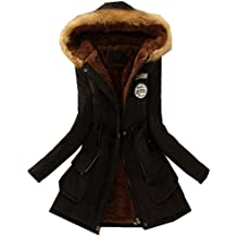 Mujer Invierno Abrigo Parkas Militar con Capucha Chaqueta de Acolchado Anorak Jacket Outwear Coats By VENMO